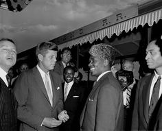 John Kennedy with Ahmed Sékou Touré, President of Guinea