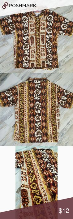 Vintage Men's Aloha Shirt by North Shore Surf EUC Vintage Men's Aloha Shirt by North Shore Surf Hawaii. Tiki pattern is super cool & old skool! 100% Cotton. north shore surf Shirts Casual Button Down Shirts
