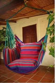 Hanging Hammock Chair - Sea Breeze - 1