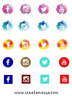 icones redes sociais png - Pesquisa Google