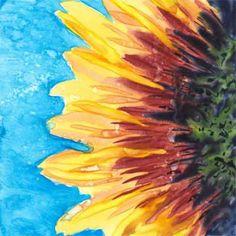 Day 9, rework.  6 x 6 in. watercolor on Yupo. © 2015 Sheila Delgado