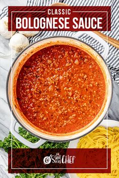 Learn three ways to make Classic Bolognese Sauce with instructions for the stovetop, Instant Pot, and slow cooker. This traditional Italian red sauce is savory, rich, and full of flavor. Pair it with your favorite pasta for the best weeknight dinner! #bolognesesauce Easy Weeknight Meals, Quick Meals, Sauce Recipes, Beef Recipes, Food Dishes, Main Dishes, Tagliatelle Pasta, Sweet Italian Sausage, Bolognese Sauce