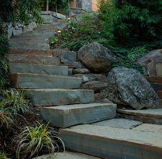 Pedersen Associates Outdoor Garden Stone Staircase, Gardenista