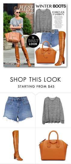"""""""#Winter Boots - Chrissy Teigen"""" by nikkisg ❤ liked on Polyvore featuring T By Alexander Wang, Gap, INC International Concepts, Givenchy, winterboots and ChrissyTeigen"""