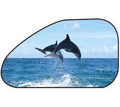 Sonnenschutz Seitenfenster selbsthaftend 65 x 38 cm - Motiv Delfin Bunt, Whale, Coastal, Crafts, Animals, Dolphins, Solar Shades, Windows, Colour
