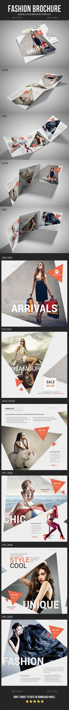 Square Tri-Fold Fashion Brochure 04