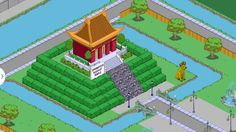 The Simpsons Tapped Out - My Springfield - New Springfield Buddhist Temple design..