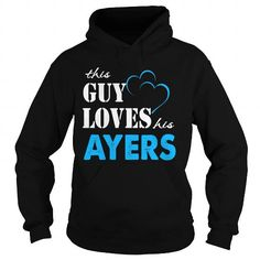 Awesome Tee TeeForAyers  Guy Loves Ayers  Loves Ayers Name Shirt  T shirts