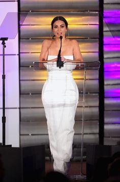 BEVERLY HILLS, CA - MARCH 11: Television personality Kim Kardashian speaks onstage at the Family Equality Council's Impact Awards at the Beverly Wilshire Hotel on March 11, 2017 in Beverly Hills, California. (Photo by Rich Polk/Getty Images for Family Equality Council ) via @AOL_Lifestyle Read more: https://www.aol.com/article/entertainment/2017/03/12/kim-kardashian-impact-awards-2017/21880492/?a_dgi=aolshare_pinterest#fullscreen