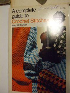 Second Silver - A Complete Guide to Crochet Stitches book Mary M. Dawson over 100 combination stitches