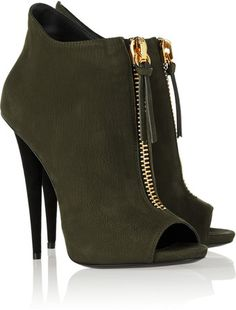 GIUSEPPE ZANOTTI    Alien Suede Ankle Boots  =
