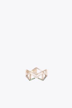 Lito Izel Rhombus 14k Yellow Gold Ring (Yellow Gold )