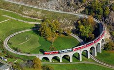 The Brusio spiral viaduct is a single track nine-arched stone spiral railway viaduct located in Brusio, in the Canton of Graubünden, Switzer...