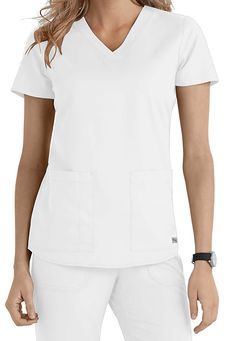 This lovely v-neck top in White from Grey's Anatomy is a perennial top seller! The flattering fit and roomy pockets will make it an essential part of your work week attire!