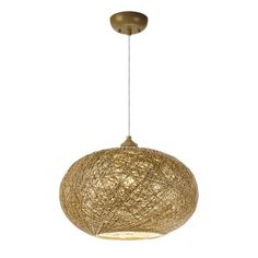 Small String Woven Pendant natural