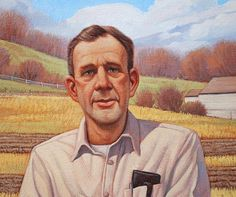 Wendell Berry painting by Greg Newbold