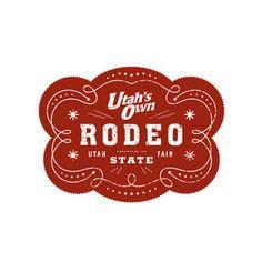 Utah's Own rodeo logo by cruxandgage Western Logo, School Carnival, Horse Logo, Design Logos, Graphic Design, Logo Google, The Ranch, Portfolio Design, Logo Inspiration