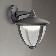 Buy Philips Robin Outdoor LED Lantern Wall Light Black Online At Johnlewis