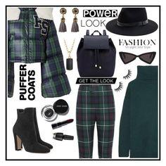 """Puffer coat"" by tinatin97 ❤ liked on Polyvore featuring Burberry, Puma, Prada, Sole Society, Barneys New York, Bobbi Brown Cosmetics, David Yurman and puffercoats"