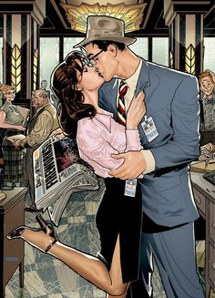 Lois and Clark. This is what I want my life to look like. (I don't even need the…