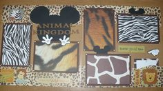 DISNEY-ANIMAL-KINGDOM-MICKEY-MOUSE-Premade-Layout-Scrapbook-Pages-12-x-12