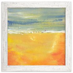 """""""Life's A Beach"""" - Art Print by Lindsay Megahed in beautiful frame options and a variety of sizes."""