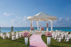 The wedding gazebo at Dreams Cancun Resort, in the Riviera Maya. So beautiful!
