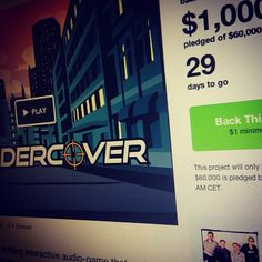 Kicking it on Kickstarter with my Rundercover