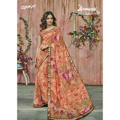 Redefine your aura instantly with this designer embroidered saree with subtle butties, motifs and broad borders. Shop this designer saree online in India at best rates. Patiyala Suit, Orange Saree, Lehenga Saree, Designer Sarees Online, Casual Suit, Printed Sarees, Party Wear Sarees, Fashion Dresses, How To Wear