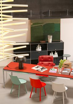 Make It Your Own: USM Statement Desk In Red.