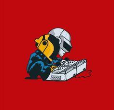 Daft Punk, chibi chara style!
