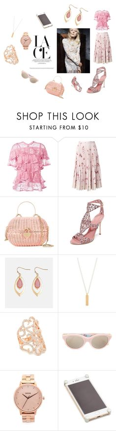 """Lace Style..**"" by yagna ❤ liked on Polyvore featuring Elie Saab, RED Valentino, Chanel, Sergio Rossi, Avenue, Maya Magal, Bronzallure, RetroSuperFuture, Nixon and Corners 4"