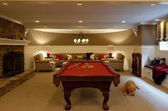 Extremely cozy basement idea