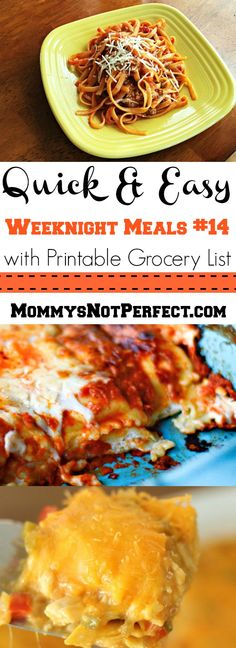 Quick & Easy Weeknight Meals #14 - www.mommysnotperfect.com