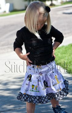 "FREE SHIPPING!! -- Girls Purple, Yellow and Black ""Too Cute To Spook"" Halloween Twirl Skirt -- Sizes 6M to 8 by StitchToStitch on Etsy"