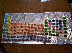 Today i made a periodic table out of paint chips super easy introducing children to the periodic table of elements with sugar cookies urtaz Gallery