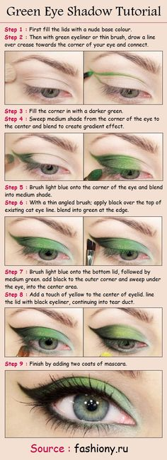 Green Eye Shadow Tutorial | PinTutorials