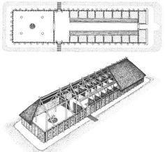 how large is a norse longhouse - Google Search ~ Nice floor plan