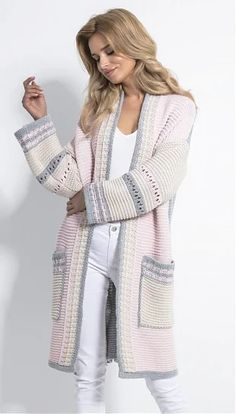 Fall Fashion Outfits, Knit Fashion, Cute Cardigan Outfits, Diy Fashion Projects, Embroidery On Clothes, Bolero, Cardigan Pattern, Knitted Headband, Crochet Cardigan
