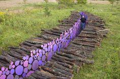 log retaining wall   log retaining walls