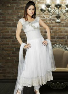 Fancy Off White Salwar Kameez !!