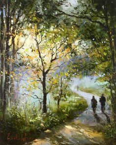 and this is how he felt........ 'Hampstead Heath' by Gleb Goloubetski Oil on Canvas 80cmx100cm