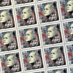 #postagestamp designed by #talltreesofparis artist Christian Guemy for the 100th birthday of the poet Léo Ferré. See more of his art in The Tall Trees of Paris by Matt Wagner (link in bio) #leoferre #stamp #paris #france #c215 @talltreesof #christianguemy