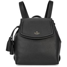 KATE SPADE NEW YORK Orchard Street Selby black leather backpack (5.394.680  IDR) 661155eccab1d
