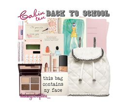 A fashion look from August 2015 featuring white backpack, palette eyeshadow and nars cosmetics. Browse and shop related looks. White Backpack, Aphrodite, School Supplies, Nars Cosmetics, Stella Mccartney, Back To School, Shinola, Face, Polyvore