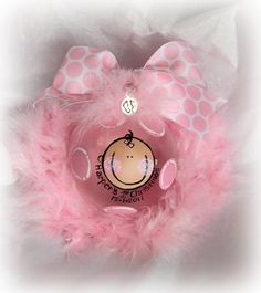 Personalized Baby's 1st First Christmas glass ball ornament GiRL or BOY. $17.99, via Etsy.