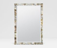 """Powder Room Mother of Pearl mirror 26"""" x 38"""""""