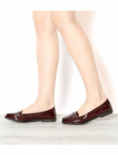 Deep Red (Red) Burgundy Patent Loafers | 292780562 | New Look