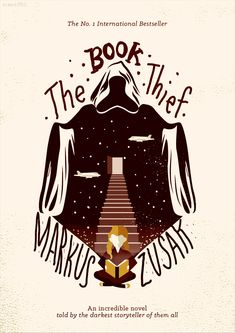 "The book theif, by Markus Zusak incredibly outstandingly amazing baboon, worth every penny for every page. ""One was a book thief, the other stole the sky"" Books Art, Cool Books, My Books, Reading Books, Markus Zusak, Buch Design, Book Posters, Retro Posters, Event Posters"