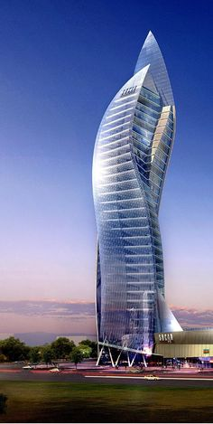 SOCAR Tower, Baku, Azerbaijan by Heerim Architects :: 42 floors, height 209m [Futuristic Architecture: http://futuristicnews.com/category/future-architecture/]